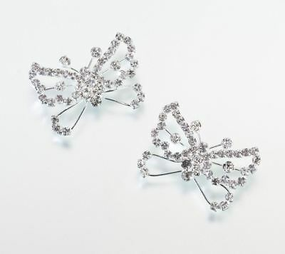 Pack of 2 Butterfly Wedding Ceremony Flower Bouquet Picks