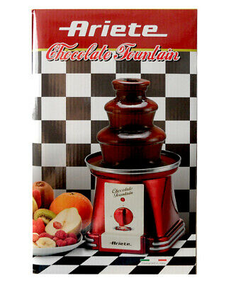 Ariete 2962 Chocolate Fountain Red Retro-Design New and Sealed