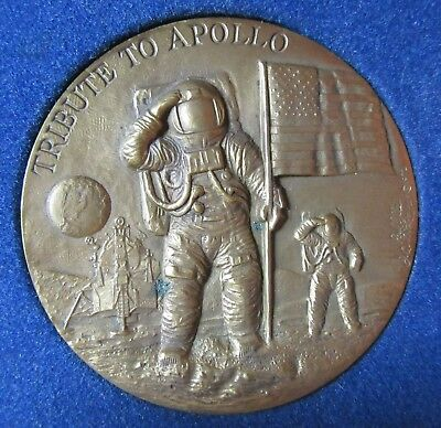 A Tribute To Apollo~Pioneers Of Flight Bronze Medal~Wright Brothers~Lindberg~