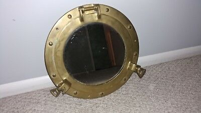 Antique Solid Bronze Brass Vintage Trim Boat Porthole Portlight Art Piece