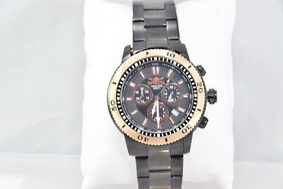 Men's Invicta 1206 Specialty Black Stainless Steel Black Chronograph Dial Watch