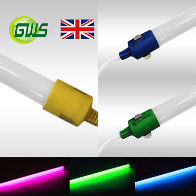 T8 LED Tube Light 2ft 4ft 5ft Red Green Blue Purple Amber Colour IP65 Waterproof