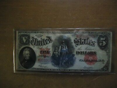 United States Note Usa Series Of 1907 Wood Chopper $5.00 Five Dollar Bill