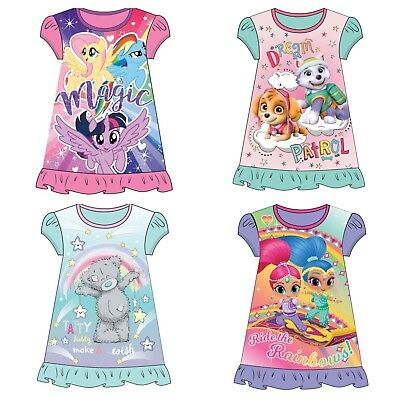 Official Girls Soft Disney Nightie Dress Pyjamas Pjs -  Sizes 2 - 8 Years