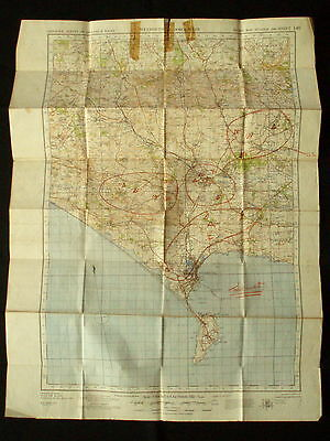 Ordinance Survey England & Wales WEYMOUTH & DORCHESTER 2nd War Revision 1940