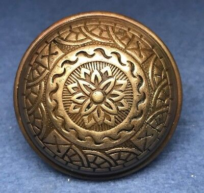 Antique Victorian Eastlake Ornate Brass / Bronze Door Knob