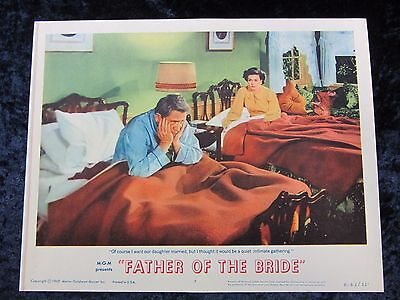 FATHER OF THE BRIDE lobby card #7  SPENCER TRACY original lobby card (R 1962)