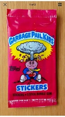UK Garbage Pail Kids Series 1 (1985) RARE Sealed Sticker Pack ~ Vintage ~ Topps