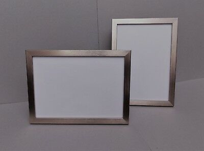 ba665bd9483 A4 Certificate Photo Picture Frame in Narrow Brushed Silver finish - FREE  P P