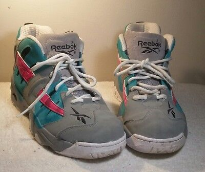 Reebok Rail M40338 Men s Retro Sz 6 Grey Teal Pink San Antonio Spurs afe1661d35b2