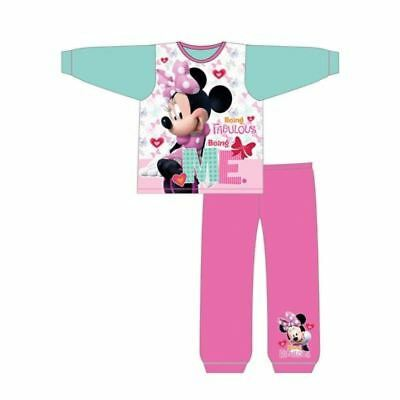 NEW Disney Girls Minnie Mouse Pyjamas Set pjs  Ages 18/24 months to 5 Years Bow