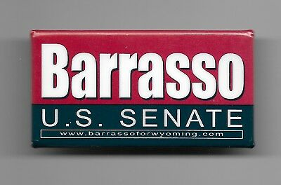 Official Wyoming Senator John Barrasso Button from 2018 Re-election Campaign