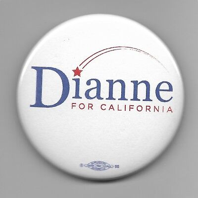 Official Button from Senator Dianne Feinstein's 2018 Senate Re-election Campaign