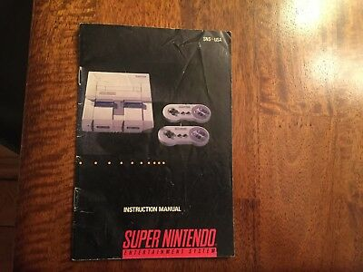 SNES Super Nintendo Console Instruction Manual and Consumer Information Booklet