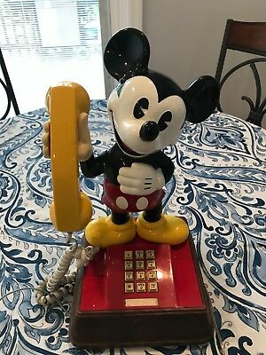 mickey mouse phone 1976 vintage