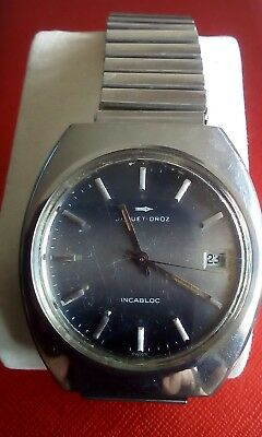 Vintage Jaquet-Droz Gents Manual Watch 17 Jewel Fully Serviced Working Condition