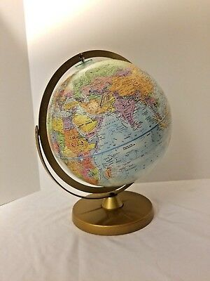 """Vintage Replogle World Nations Series 12"""" Globe Double Axis Textured Globe"""