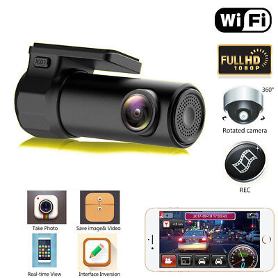 Mini WIFI 1080P Hidden Car Auto DVR Dash Cam Camera Video Recorder Con G-Sensor