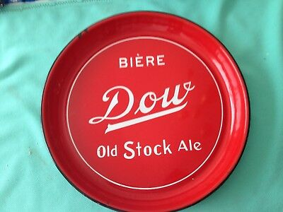"""Heavy Porcelain Biere Dow Old Stock Ale Beer Tray 12 3/4"""" Vgc"""