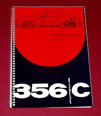 1964 Porsche Type 356 C Driver's Manual Betriebsanleitung - New Reprint - German