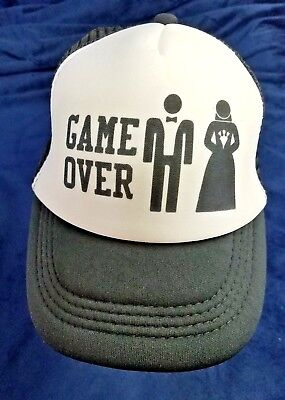game over wedding funny novelty baseball cap Truckers hats bride groom