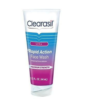 Clearasil Ultra Rapid Action Face Wash, 6.78 oz (Lot of 2)