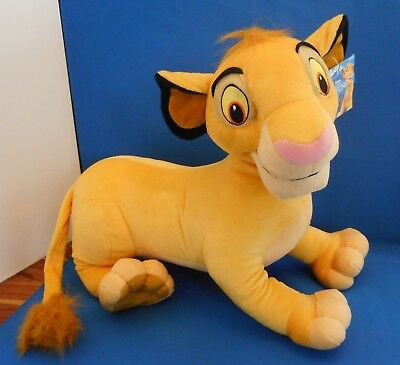 Disney Lion King Simba Soft Toy Plush Large With Tags