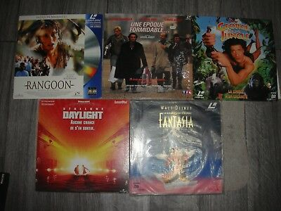 Lot De 5 Laserdiscs Rangoon Fantasia Daylight George De La Jungle Une Epoque...