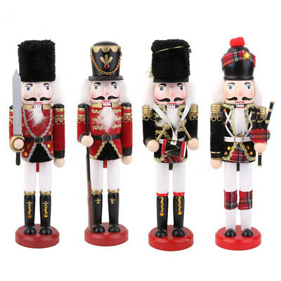 Wooden Nutcracker Soldier Puppet Christmas Decoration Crafts Ornaments Xma's Toy