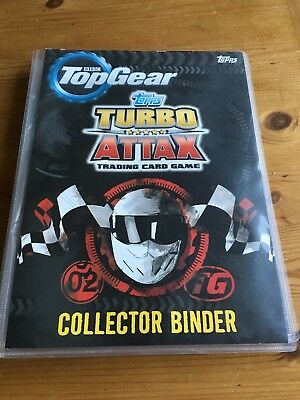 Topps Turbo Attax Trading Card Game Binder And 70+ Cards Inside