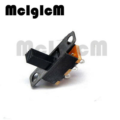 50pcs/lot Micro Slide Switch 3PIN 2 Position 1P2T ON-OFF Toggle Switch Handle hi