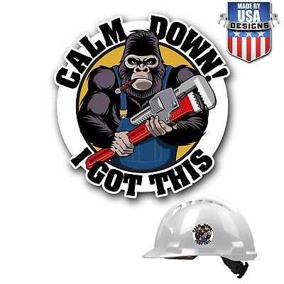 Hard Hat Stickers HardHat Sticker & Decals, Helmet, Plumber, Wrench