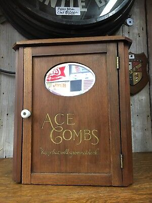 Vintage Ace Combs Wooden Display Cabinet