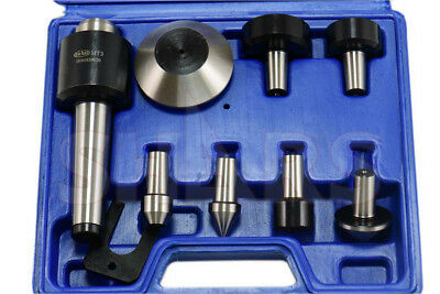 MT 2 Morse Taper Heavy Duty CNC MT2 Live Center Set 5500RPM 0.0004 TIR  + CERT