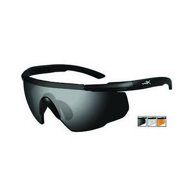 b7150b5667d Wiley-X Saber Advanced Matte Black Frame Sunglasses - 3 Lens Grey Clear