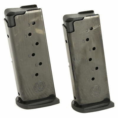 Ruger Magazine 9mm 7 Round Fits LC9/LC9S w/ Finger Rest Blue 2 Pack 90642
