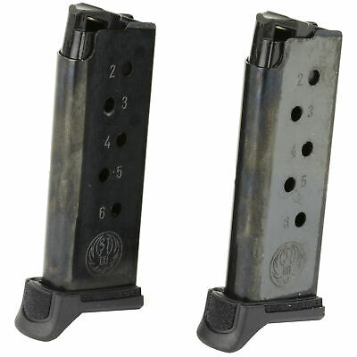 Ruger Magazine 380Acp 6 Round Fits LCP II Black 2 Pack 90644