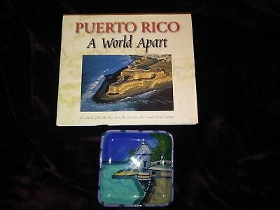 Puerto Rico A World Apart Book by Rodger A. LaBrucherie and EL Morro Plate Avon