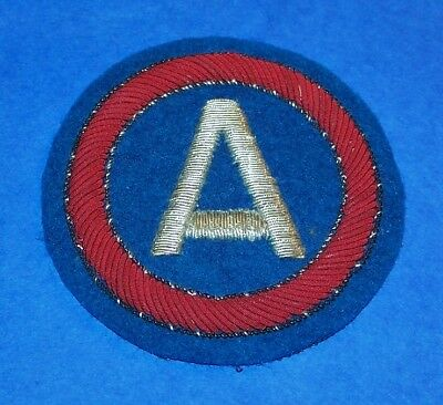 ORIGINAL POST WW2 GERMAN MADE BULLION 3rd ARMY PATCH, A BEAUTY!