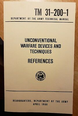 US Army Unconventional Warfare Devices and Techniques - TM-200-1 (1966) NEW
