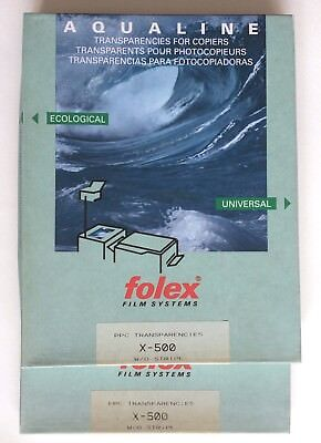 two  boxes of Folex Aqualine PPC Transparencies for Copiers X-500 w/o stripes