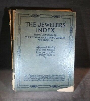 The Jeweler's Index Keystone Publishing PA 1922 Edition MS10