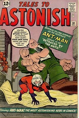 Tales to Astonish 38 Silver Age Ant-Man. First Appearance of Egg Head!