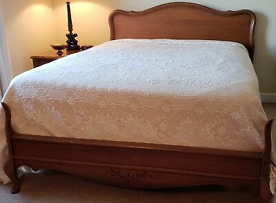 French Provincial, Mid Century, five piece, full size bedroom suit
