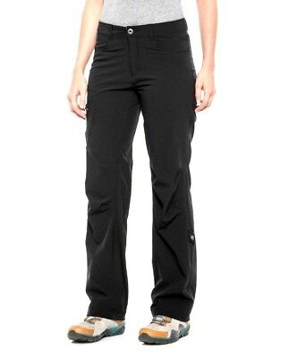 Pacific Trail Women's Roll-Up Stretch Pants - UPF 30, Black, Size XL, NWT