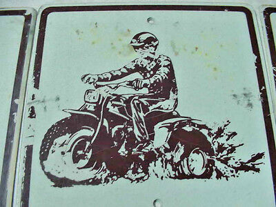 Used Metal ATV Reflective Trail Sign