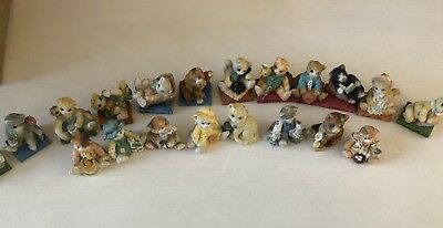 Calico Kittens By Enesco Lot, Cats On Books And Other Figurines, 20 Cats