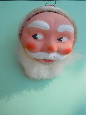 Vintage Old German  Santa Claus  Head Candy Container Ornament