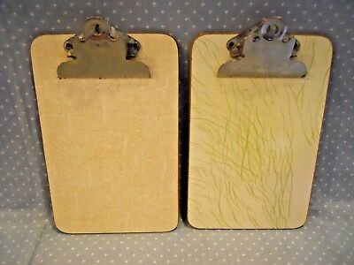 Vintage Mid Century Modern~ Set of 2 Formica Clipboards~ 8""