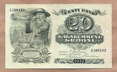 Estonia - 20 Krooni - 1932 - P64 - Au/uncirculated